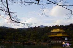 Le Kinkakuji par mauvais temps à Kyoto