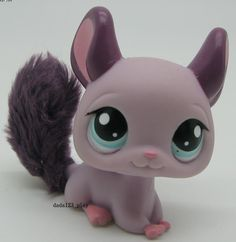 Littlest Pet Shop Loose Figures Collection toy RARE PURPLE CHINCHILLA E74C