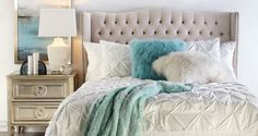 Inspired by this Aqua Jameson Bedroom Inspiration look on @ZGallerie