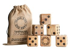 Wooden Lawn Dice: Fun for the whole family! Throw them around and create games that will last for hours.