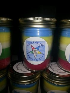 Order of Eastern Star Candles