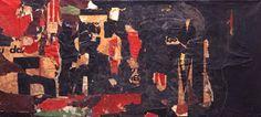 Jacques VILLEGLE, M (cosigné avec Raymond Hains), 1949.  Affiches lacérées marouflées sur toile. 52 x 115 cm. Raymond Hains, Gcse Art, Les Oeuvres, Abstract, Paper, Painting, Visual Arts, Posters, Toile