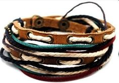 Jewelry Bangle bracelet women Leather Bracelet Girl Ropes Bracelet Men Leather Bracelet A7. $9.00, via Etsy.