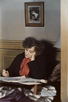 Colette, working in bed, Paris, 1939 © Gisèle Freund Saint Sauveur, Nobel Prize In Literature, Blue Lantern, Writers And Poets, French Photographers, Girl Reading, Playwright, Inspirational Books, Paris