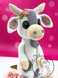 Crochet Pattern Cow Debbie Amigurumi PDF Cute Spotted Brown Cow Genuine Eyes Stuff Toy For Children Animal Stains Horns Embroider EBook - Бычки - Crochet Cow, Crochet Patron, Crochet Amigurumi Free Patterns, Crochet Animal Patterns, Crochet Doll Pattern, Stuffed Animal Patterns, Crochet Animals, Cow Toys, Amigurumi Doll