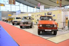 "Retro Classics 2015, Stuttgart, Buschtaxi Museum ""55 years Land Cruiser 40 Series / 35 years Land Cruiser 60 Series"" #buschtaxi #landcruiser #toyota"