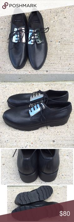 Vagabond Aurora Black platform Oxford 7 Brand new without tags Vagabond  black leather platform shoes. 7e7b2c8018