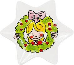 Hapjes serveren met dit leuke stervormige kerst schaaltje? Maak je kersttafel compleet met dit schaatlje Girl van Blond-Amsterdam.