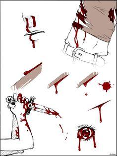 Рисование крови
