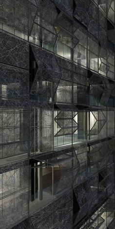 golf's tower by hackenbrioch architekten. Giving me ideas on sliding iron gate/fencing against glass wall... how about...