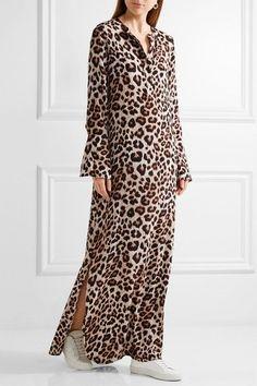 Equipment - Niko Leopard-print Washed-silk Maxi Dress - Leopard print - small