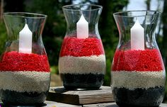 july-4th-american-patriotic-home-decorating-design-couch-throw-pillow-better-decorating-bible-candles-diy  dyed rice in layers