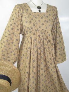 LAURA ASHLEY VINTAGE 70's BOHEMIAN COTTAGE POSY KAFTAN STYLE EMPIRE MAXI DRESS #LAURAASHLEY #60s70sBOHEMIANFESTIVALFLOWERPOWER #Casual