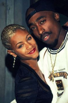 Good friends. Tupac and Jada Pinkett went to the Baltimore school for the arts, and remained very close platonic friends