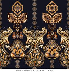Find Floral Seamless Pattern Paisley Style Ornamental stock images in HD and millions of other royalty-free stock photos, illustrations and vectors in the Shutterstock collection. Thousands of new, high-quality pictures added every day. Paisley, African Art Paintings, Original Paintings, Print Wallpaper, Pattern Wallpaper, Egyptian Tattoo Sleeve, Indian Prints, Botanical Flowers, Album Design