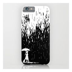 Pixel Rain iPhone 6s Case ($35) ❤ liked on Polyvore featuring accessories, tech accessories, phone case and iphone & ipod cases