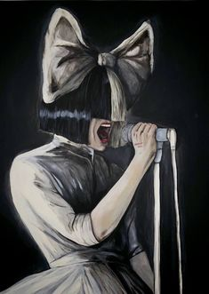 Original Celebrity Painting by Andrea Crezzini Et Wallpaper, Gold Wallpaper Background, Tumblr Wallpaper, Disney Wallpaper, Sia Singer, Sia Video, Sia And Maddie, Chon Mendes, Feelings