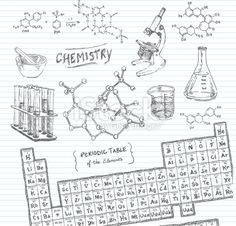 Chemistry Doodle Sketches Royalty Free Stock Vector Art Illustration