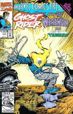 Marvel Comics Presents # 111 by Sam Kieth ghost rival Marvel Comic Book cover