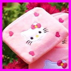 "This listing is for an adorable Hello Kitty change purse  in the pink color shown in the photos.   These are really cuteHello Kitty coin purses.   They would work well for jewelry and storing small things too They are made of Fuzzy Cloth and have a zipper top.   They are about 4"" wide and 3 1/2"" tall.  *<>*.. $6.50ea .. (Quantity-3) I ship within 24 hours, many times the same day.   Your order will be sent First Class with Delivery Confirmation and tracking,  Contact…"