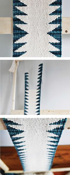 Build your own DIY loom and weave this gorgeous tapestry runner up in a weekend! eBook includes weaving techniques for 15 projects, plus instructions to build a variety of simple looms. Card Weaving, Tablet Weaving, Weaving Art, Tapestry Weaving, Loom Weaving, Weaving Designs, Weaving Projects, Weaving Patterns, Diy Craft Projects