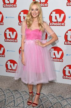 Pretty in pink! Fearne Cotton looked youthful as ever as she attended the TV…