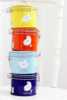 Colourful tea jars. Tea Jar, Joko, Appreciation, Packaging, Design Inspiration, Rainbow, Bright, Pure Products, Drink