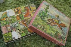 moje oblíbené dřevěné skládací kostky Budulínek - Marie Fischerová-Kvěchová
