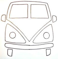 Diy by Paula: Una volkswagen hippie Felt Crafts, Fabric Crafts, Sewing Crafts, Sewing Projects, Felt Patterns, Applique Patterns, Sewing Patterns, Hippie Crafts, Sewing Appliques