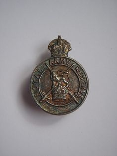 Royal Army Reserve Hallmarked Silver Lapel Badge