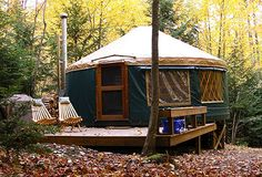 Go glamping in a yurt Target timeline: 30 years