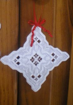 """Items similar to Hardanger Holiday Ornament - """"Star"""" on Etsy Types Of Embroidery, Shirt Embroidery, Embroidery Stitches, Embroidery Patterns, Swedish Weaving, Hardanger Embroidery, Japanese Patterns, Satin Stitch, Holiday Ornaments"""