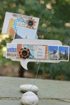 Mini layouts on rocks?!  By Betsy Sammarco with the October Mercantile kit.