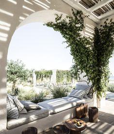 Mea Terra on Behance Outdoor Spaces, Outdoor Living, Outdoor Decor, Outdoor Furniture, Elle Decor, Home Office, Ibiza Fashion, Relaxing Day, Beach Bars