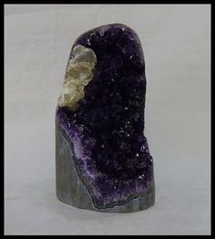 This is an exceptional freeform chunk of Uruguay amethyst, with a stunning calcite section. Google+