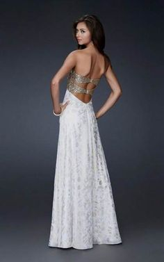 Nice white and gold prom dresses 2013 2017-2018