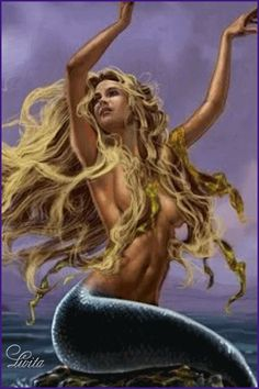 I love all fantasy and mythical stuff, but my favorite ones are mermaids.So this is a collection of mermaid images I've been picking all over the internet. Fantasy Mermaids, Mermaids And Mermen, Mermaid Board, Mermaid Fairy, Mermaid Lagoon, Mermaid Tattoos, Mystique, Merfolk, Mythical Creatures