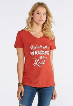 783abd989573c Cato Fashions Not All Who Wander Graphic Tee-Plus  CatoFashions Your Style