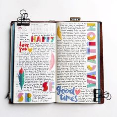 Week 31 in my traveler's notebook using #amytangerine 's new collection,Oh Happy Life, from @theinkroad shop!  Use THERESA20 for 20% off any order!