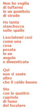 "Giuseppe Ungaretti, ""Natale""."