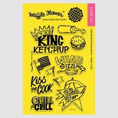 BBQ Sayings Stamp Set – WaffleFlower.com