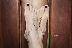 Korálkové sandálky / Barefoot beads sandals - free tutorial
