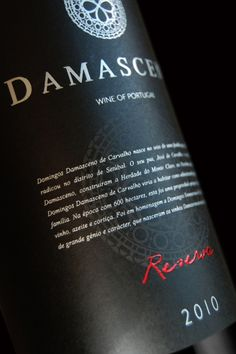 Damasceno Reserva Red Label on Behance  by_Miguel Batista
