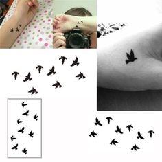รีบเป็นเจ้าของ  Wrist Tattoo Fake Tatto Black Birds Waterproof Temporary TattooSticker For Body Art Women Tatoo - intl  ราคาเพียง  297 บาท  เท่านั้น คุณสมบัติ มีดังนี้ Size :&10.5*6cm Canbe used on skin, metal, pottery, glasssurface. Printeddesigned colors, the patterns are bright and looks like a realarts. Verygood choice as temporary boby art, makeup accesories, and it canalso cover the scar. Easyto put on and move out.