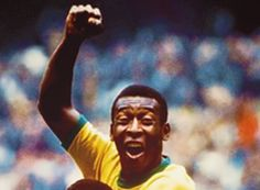 Pele (the legend). In total Pelé scored 1281 goals in 1363 games, including unofficial friendlies and tour games. He won three FIFA World Cups; 1962 and the only player ever to do so, and is the all-time leading goalscorer for Brazil with 77 goal. World Football, Soccer World, Football Soccer, Play Soccer, Baseball Hat, Good Soccer Players, Football Players, Soccer Stars, Sports Stars