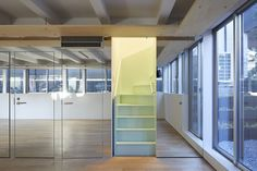 frontoffice combines dance studio, house + yoga space in three-storey building within tokyo Living Area, Living Spaces, A Simple Plan, Interior Staircase, Urban Fabric, Rooms For Rent, Yoga At Home, Maximize Space, Architecture Office