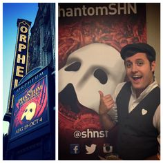 Nick reconnecting with The Phantom at The Orpheum Theatre in SF- 2015