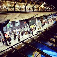 Bahnhof / railway station in Zürich Stadelhofen. architect: Santiago Calatrava.