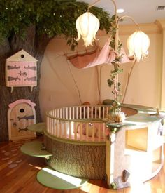 tiny art room | 26 Round Baby Crib Designs For A Colorful And Cozy Nursery