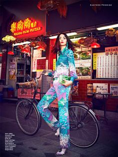 Model: Miao Bin Si Publication: Stylist Magazine Title: East Side Story Issue: Spring-summer 2013 Photographer: James Meakin Stylist: Alexandra Fullerton Hair and makeup: Athena Skouvakis Foto Fashion, Punk Fashion, Fashion Shoot, Asian Fashion, Editorial Fashion, Fashion Models, High Fashion, Fashion Trends, Fashion Women